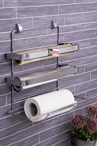 Lifetime 3 In 1 Kitchen Triple Paper Dispenser & Holder/ Wrap Aluminium Foil & Kitchen Roll  available at amazon for Rs.1079