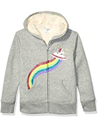 Spotted Zebra Sherpa-Lined Fleece Zip-up Hoodies Unisex niños