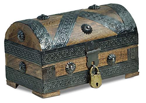 Brynnberg - Caja de Madera Cofre del Tesoro con candado Pirata de Esti