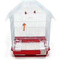 BPS Jaula Pájaros Metal con Comedero Bebedero Columpio Saltador Cubeta Color envia al Azar 34.5 x