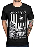 AWDIP Official Lamb of God No One Left to Save T-Shirt Wrath Resolution Log Metal