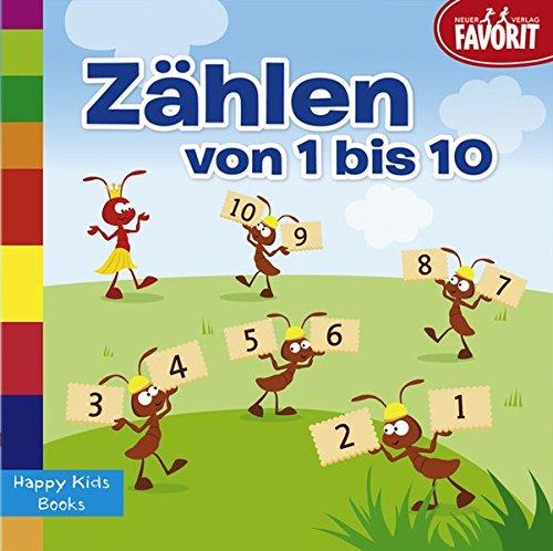 Zählen von 1-10: Happy Kids Books
