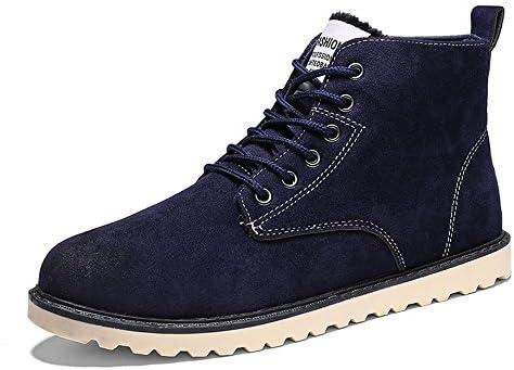 Hishoes Hombres Invierno Calidas Gamuza Zapatos Casual Calzado Deportivo Planas Botas de Nieve Martin botas zapatos