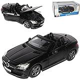 Mercedes-Benz SLK R172 Cabrio Schwarz Matt Ab 2011 1/24 Maisto Modell Auto mit individiuellem Wunschkennzeichen