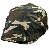 Shanxing da uomo berretto piatto Newsboy Cabbie guida Duckbill Beret cappello regolabile Style 4-Camouflage C Taglia unica