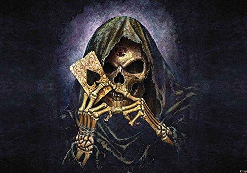 Tapeto Fototapete - Schädel Tod Ace Alchemy - Papier 254 x 184 cm (Breite x Höhe) - Wandbild Gotisch Skelett -