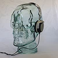 AMP3 Luxury Glass-Skull Headphones Stand