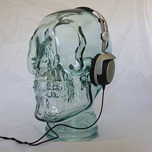 AMP3 Luxury Glass Skull Headphones Stand - CLEAR