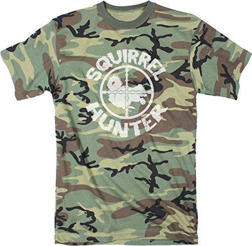 Crazy Dog Tshirts Mens Squirrel Hunter Funny Animal Hunting Season Shooting Camouflage T Shirt (Camo) XL - Herren - XL (Dog Militär T-shirt)