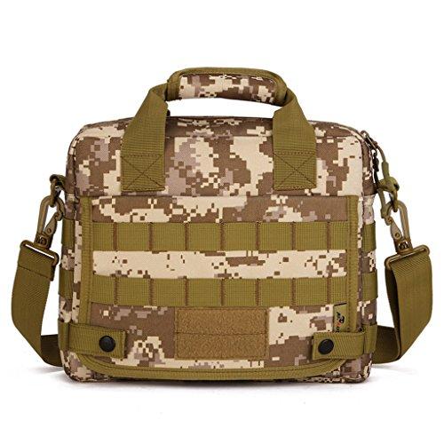 cinmaul Freizeit Schultertasche Computer Handtasche MOLLE TACTICAL Nachricht Tasche Mehrfarbig - Desert Camouflage