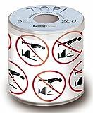 Servdeko ToilettenpapierNicht im stehen Geschenkidee 3-lagig in Geschenkverpackung Scherzartikel