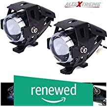 (Renewed) AllExtreme EXU5FW2 U5 CREE LED Driving Fog Light Fog in Aluminum Body with Mounting Brackets for All Motorcycles, ATV and Bikes and Cars (10W, White Light, 2 PCS)