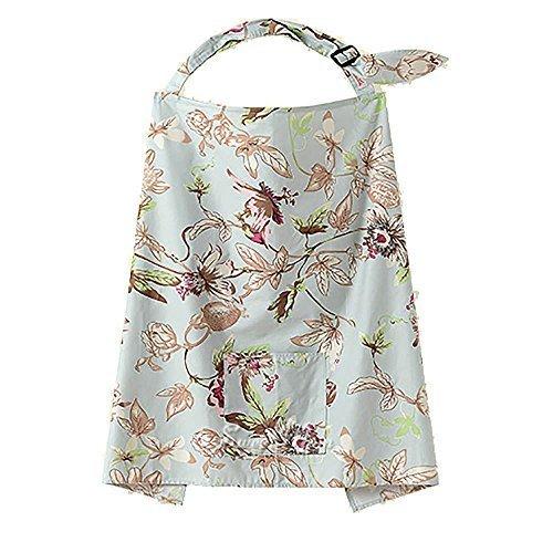zeuxs Mum Mutter Frauen Baumwolle Bezug Baby Infant Stillen Stillen Decke Schals-Blumenmuster Wetterfahne Muster