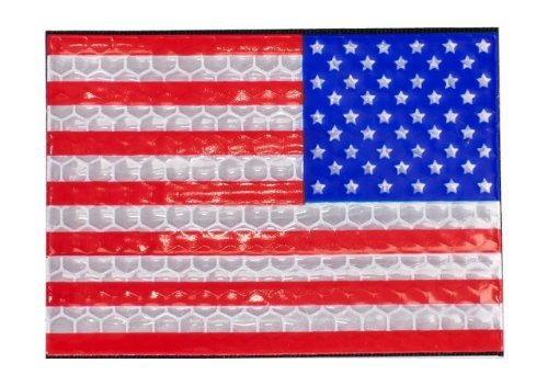 Reflective US Flag Patch - Full Color / Reverse by A-Plus Trading - Reverse-flag-patch