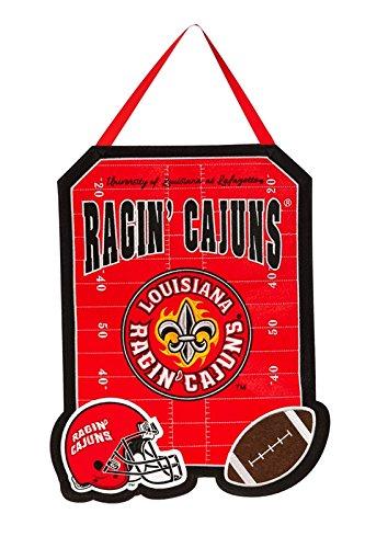 Team Sport Amerika NCAA Outdoor Safe Filz Tür Decor, Louisiana Lafayette Ragin' Cajuns - Lafayette Tür