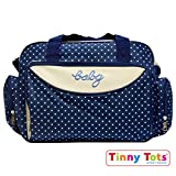 #1: Tinny Tots Multi-functional Baby Diaper Nappy Changing Bag (Navy)