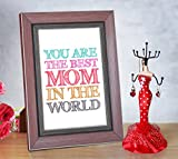 #4: Tied Ribbons Gift for Mother on Mothers day Jewellery Hanger with Mother's day Special Quoted Frame