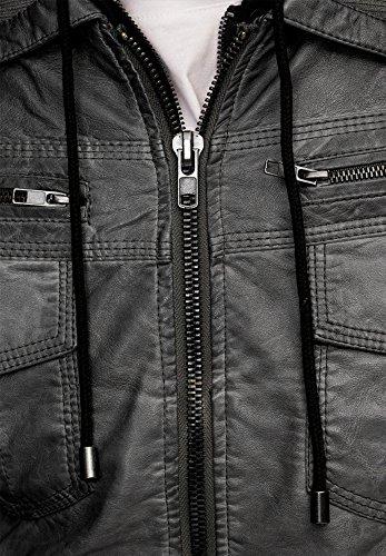 Indicode Herren Jacke Aaron Grau (Dark Grey 910)