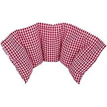 """""""Aktion: NATUR PUR"""" Kirschkernkissen von salosan: 5 Kammern Kissen, zur Wärme- / Kälte - / Entspannungs- / Wellness- und Massagetherapie bestens geeignet, in liebevoller Handarbeit aus biologischen Rohstoffen hergestellt, Größe: 50 x 20 cm (rot groß)"""