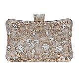 542aca5362 Selighting Donna Pochette Argento da Cerimonia Pochette da Sera Sacchetto  Elegante Borsetta da Sera Bling Diamante