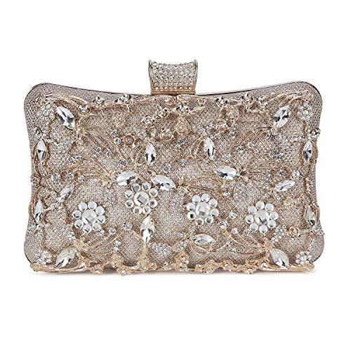 Selighting Bolso de Noche de Lujo Bolso de Hombro Mujer Glitter Diamond Hard Shell Clutches Embrague...