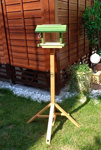 Vogelfutterhaus BTV-X-VOFU2G-gras001 XXL PREMIUM Vogelhaus mit großem 3D-SILO, grasgrün Marien Käfer grün PURE GREEN Garten grüner Nistkasten Insekten, KOMPLETT MIT 2 GROSSEN SICHTSCHEIBEN FÜR FUTTERVORRAT, als Ergänzung zum Meisenkasten oder zum Insektenhotel, Vogelfutterhaus, für Vögel, zum Hängen und zum Aufstellen - 4