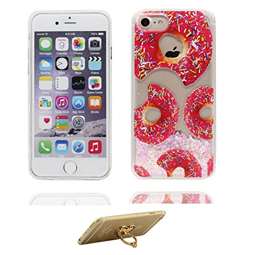 "iPhone 6S Coque, Skin Hard Clear étui iPhone 6 / 6S, Sirène- Design Glitter Bling Sparkles Shinny Flowing iPhone 6 Case Shell 4.7"", résistant aux chocs et ring Support # 4"