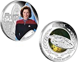 CAPTAIN KATHRYN JANEWAY U.S.S. VOYAGER NCC-74656 Star Trek Two Silber Münze Set 1$ Tuvalu 2015