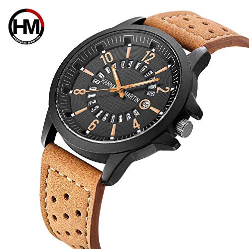 Uhren Gürtel Uhr Mens Creative NASA Mens Aussehen Patent Watch1601 Z Brown Khaki -