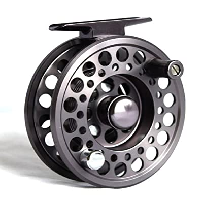Fly Fishing Reel Aluminium High Quality - Gunsmoke Grey Colour 9/10 size by BestCity Tackle