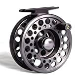 Fly carrete de pesca de aluminio alta calidad–Gunsmoke color gris 7/8tamaño limitada principio de temporada venta oferta