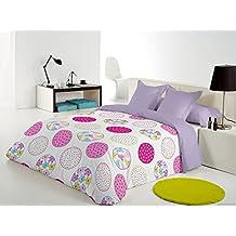 Reig Martí Candycor - Juego de funda nórdica estampada, 3 piezas, para cama de 105 cm, color fucsia