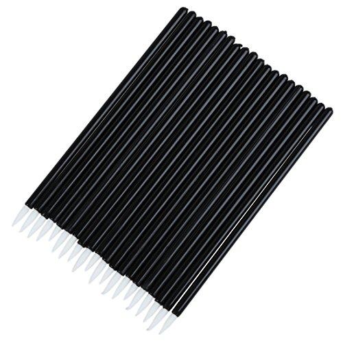 TOOGOO(R) Crayon de eye-liner jetable en poignee noire et plume blanche Applicateur de pinceaux pour les yeux 20 pieces par un paquet
