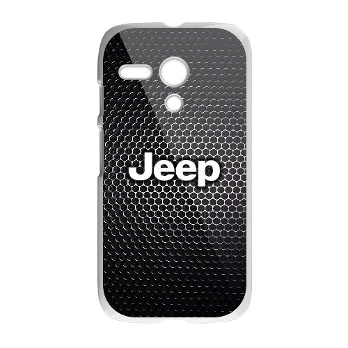 Motorola Moto G white Phone Case Top Design Jeep Wrangler Logo JP412580
