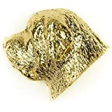 MASTIFF Made in U.K Artistic Style Dog Clutch Lapel Pin Collection 22ct Gold Plated by DOG ARTS JP
