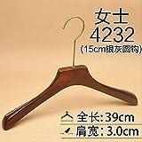 Xyijia Kleiderbügel (10Pcs / Lot Hölzerner Kleiderbügel des Holzbügels Langer Hakenaufhänger, Der Bekleidungsgeschäft Speichert