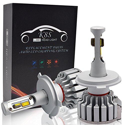 H4 LED Kit Lampadine Faro Auto - Safego Hi/Lo 50W 5000LM Kit Conversione LED Automatico Chip LED Sostituisci per Luci Alogene Auto o Lampadine HID 12V
