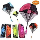 Juguete Paracaídas set, incluyendo,4 × Mano que lanza el juguete del paracaidista. Muy buenos juguetes al aire libre para niños. ¡Se puede regalar a los niños! ¡Dale más felicidad a tu hijo! !