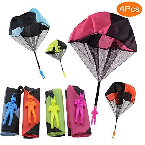 Juguete Paracaídas set, incluyendo,4 × Mano que lanza el juguete del paracaidista....