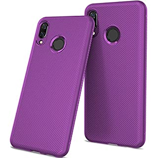 Huawei Honor 8X Handyhülle Silikon Casefirst TPU Case Schale Schlank Anti-Fingerabdruck Stoßfest Schutzhülle 360 Grad Case Robust Schutzhülle Cover mit Eingebautem Displayschutz für Huawei Honor 8X (Lila)