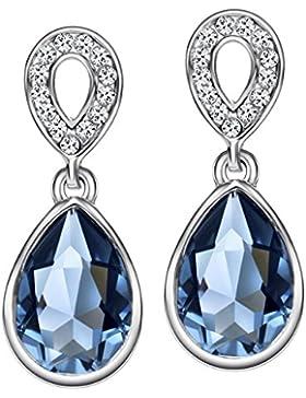 Neoglory Jewellery Silber mit original Swarovski? Elements Ohrringe Tropfen elegant