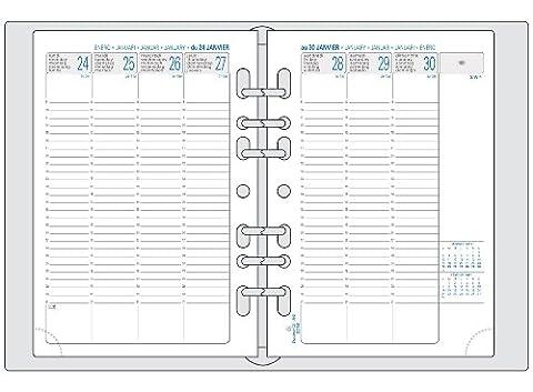 Exacompta - 28270E - Recharge Organiseur Exatime 21 Semainier Vertical