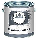 Lausitzer Farbwerke Metallschutzfarbe 3in1 traditioneller Metallschutzlack 3-in-1 du sparst weitere Anti-Rost-Produkte Metallfarbe Metalllack Farbe für Metall, Stahl, Eisen, Zink und Aluminium