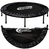 eyepower faltbarer Ø 130cm Trampolin inkl. Randpolster Indoor Outdoor Trampolin Gartentrampolin Fitness-Trampolin 120 Kg