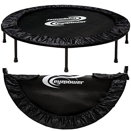 Eyepower 11987 - Cama elástica plegable (aprox. 140cm, hasta150 kg, 8 patas estables, acolchado de seguridad en todo el contorno)