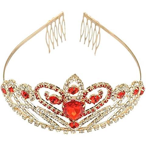 ROSENICE Archetto strass capelli Tiara corona con pettine accessori per capelli delle donne del partito di nozze
