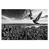 Tapete selbstklebend - Tauben auf dem Empire State Building Fototapete 190x288cm
