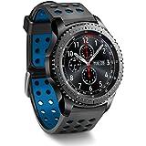 Greatfine Reloj Inteligente Smart Watch 22mm Silicona Banda de Reloj de la correa de para Samsung Gear S3 frontier / Classic / Gear2 R380 Neo R381 Live R382 / MOTO 360 2nd/Pebble Time / LG G Watch W100/W110/Urbane Smartwatch (Black Blue)