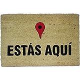 Koko Doormats - Felpudo con diseño Estas Aquí Coco, PVC, 60 x 40 cm