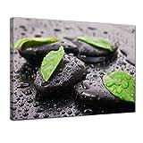 """Bilderdepot24 Leinwandbild """"Zen Steine IV"""" - 60 x 50 cm - fertig gerahmt, direkt vom Hersteller"""